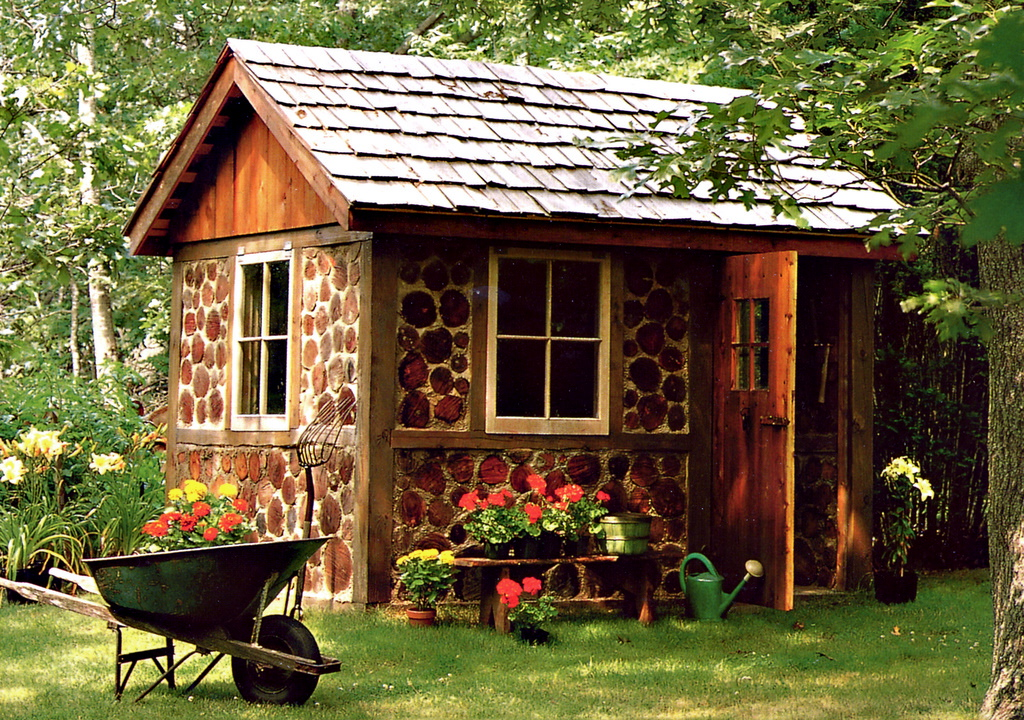 Cottage conceptions small pines for Cordwood shed